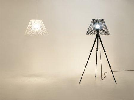 jak samemu zrobić lampę, lampa zrób to sam, klosz do zrobienia samemu, jak wykorzystać stare wieszaki