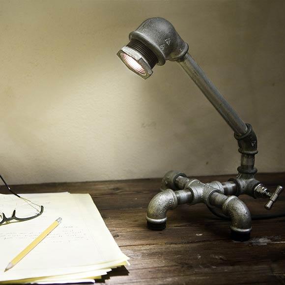 jak samemu zrobić lampę, lampa zrób to sam, lampa biurkowa, lampa z zaworu